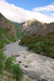 Mountain river. The landscape of Niyang River in Tibet, China Royalty Free Stock Photography