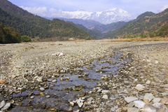 Mountain river landscape, Pokhara, Nepal Stock Image