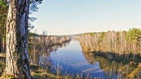Mountain river landscape siberia, Ural, Russia Stock Images