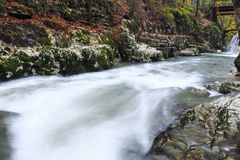 Mountain river in late Autumn Royalty Free Stock Photography