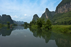 Mountain in river Li Stock Photography