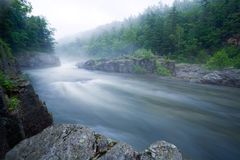 Mountain river.Long Exposure Royalty Free Stock Images