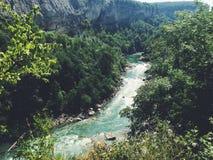 Mountain river. Mountain landscape. Mountain range view from Caucasus. Mountain river. Mountain landscape Royalty Free Stock Photos