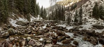 The mountain river. Royalty Free Stock Photos