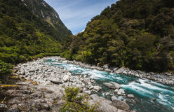 Mountain river, New Zealand Stock Photos