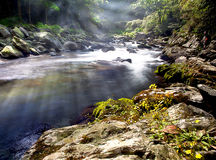 Mountain River with nice light Stock Photo