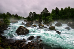 Mountain river in Norway Stock Images