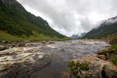 Mountain river in Norway Royalty Free Stock Images