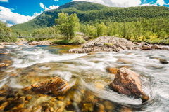 Mountain River In Norway. Landscape, Nobody Royalty Free Stock Images