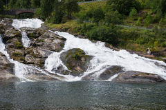 Mountain river in Norway. Royalty Free Stock Photo