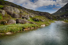 Mountain river in Norway summer trip Stock Photography