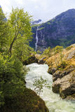 A mountain river of Norway Royalty Free Stock Photography