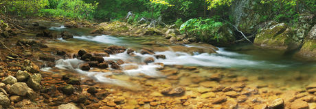 Mountain river (panorama) Stock Photos