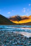 Mountain river pebble Royalty Free Stock Photos