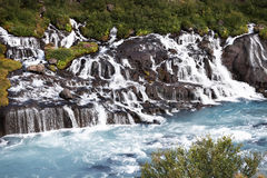 Mountain river with rapids. Landscape of Iceland. The mountain river with rapids Stock Images