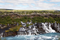 Mountain river with rapids. Landscape of Iceland. The mountain river with rapids Royalty Free Stock Photo