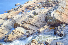 Mountain river rapids in Quebec Royalty Free Stock Photos