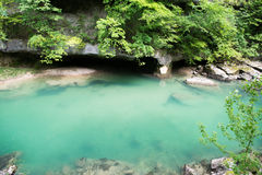 Mountain river. River flowing through the gorge. Rhone Alps. France. Mountain river. River flowing through the gorge stock photography