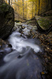 Mountain river with rocks in autumn Royalty Free Stock Image