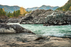 Mountain river with rocks Royalty Free Stock Photos