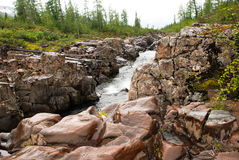 Mountain river in the rocks. Stock Image