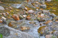 Mountain river rocks in Villa General Belgrano, Cordoba Province Royalty Free Stock Photos
