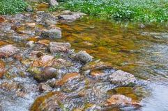 Mountain river rocks in Villa General Belgrano, Cordoba Province,. Argentina royalty free stock photo