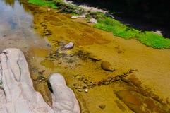 Mountain river rocks in Villa General Belgrano, Cordoba Province. Argentina royalty free stock photo