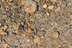 Mountain river's waves. Rocks under the water Stock Image