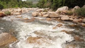 Mountain river scene panning footage high definition stock video footage