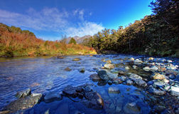Mountain and river scenery Royalty Free Stock Images