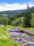 Mountain river in the ski resort  Landscape Royalty Free Stock Photography