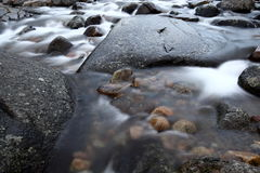 Mountain river with stones. In Norway Stock Images