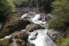 A mountain river. The strong current of a mountain river Royalty Free Stock Photos