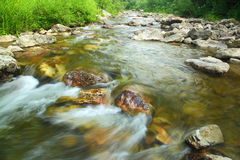 Mountain river in summer - long exposure Royalty Free Stock Image