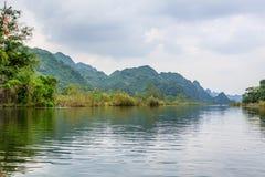 Mountain with river at Suoi Yen, Chua huong Royalty Free Stock Photos