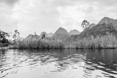 Mountain with river at Suoi Yen, Chua huong Stock Images