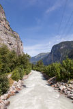 Mountain river. In the Swiss Alps Stock Photos