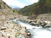 Mountain river in Tajikistan royalty free stock images