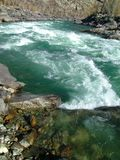 Mountain river with the thresholds Royalty Free Stock Image