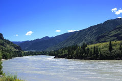 Mountain river valley Royalty Free Stock Photos