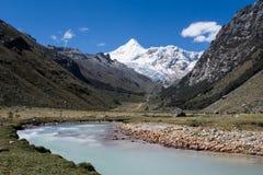 Mountain river and valley Stock Photos