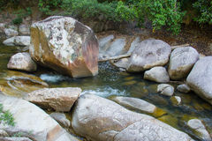 Mountain river in Vietnam. Water flow through the stone formation in jungle Stock Images