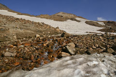 Mountain river on the volcano Royalty Free Stock Photography