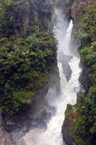 Mountain river and waterfall in the Andes Royalty Free Stock Photo