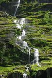 Mountain river with waterfall in Norway Stock Image