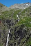 Mountain river with waterfall in Norway Stock Photos