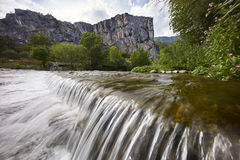 Mountain with river waterfall Royalty Free Stock Image