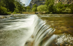 Mountain with river waterfall Stock Photography