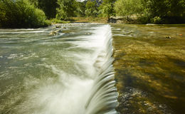 Mountain with river waterfall Stock Image